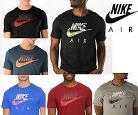 Nike Air Mens Oversize Speckle Futura T-Shirt Retro Style Sport Swoosh Tee