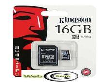 Kingston Micro SD 16GB SDHC Sony Memory Card Microsd TF Mobile Phone Class 4