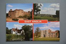 R&L Postcard: Modern, East Anglia Multiview Orwell Bridge/Colchester Castle...