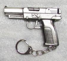 Pistol Weapon Replica Bronze Metal KEY CHAIN Ring Keychain NEW