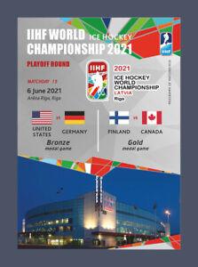 MATCHDAY PROGRAMMES IIHF ICEHOCKEY WORLD CHAMPIONSHIP 2021 LATVIA FAN ed