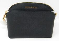 New Michael Kors Emmy Black Gold Saffiano Leather Cindy Dome Crossbody Purse