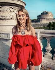 NEW GIAMBATTISTA VALLI x H&M RED COLD SHOULDER DRESS VALENTINES UK 4 EUR 32 US 0