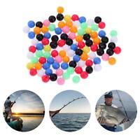 100 stücke Runde Mischfarbe PE Kunststoff Stopper Perlen für Karpfenangeln Rig