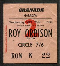 Original 1963 Roy Orbison The Searchers Concert Ticket Stub Harrow Pretty Woman