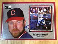 1983 Donruss #39 Toby Harrah hand signed autographed postcard sized card
