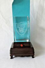 Vintage Oakland Raiders NFL Champions Lazer Etched Lead Glass illuminated lamp.