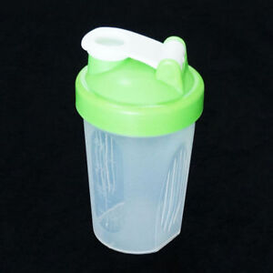 Shaker Bottle with Mixing Ball - Green Color Top - 400ml/ 13.5oz