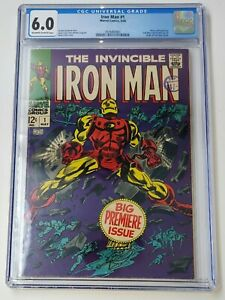 🔥IRON MAN #1 (May 1968, Marvel Comics) CGC 6.0 🔥 FREE SHIPPING Premiere Issue