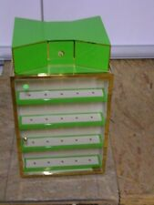 KATE SPADE RETAIL SWIVEL COUNTER TOP GREEN & GOLD STORE DISPLAY
