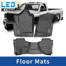 Floor Mats Liner for 2014-2018 Chevy Silverado Gmc Sierra All Weather Protection (Fits: Chevrolet)