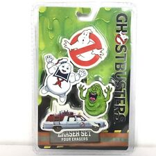 Ghostbusters 4 Pc Eraser Set 2016 Slimer Stay Puff Marshmallow Man Rare Misprint