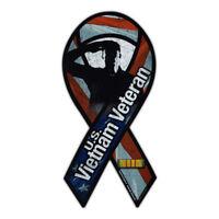 Magnetic Bumper Sticker - Vietnam Veteran - Ribbon Shaped Support, Pride Magnet