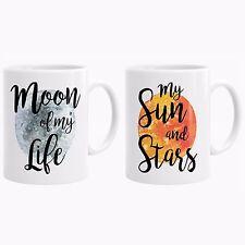 Game Of Thrones Mug Set, Khaleesi and Drogo Mugs, Moon Sun Gift, GOT Gifts P43