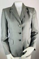 Calvin Klein 6 Women's Blazer Suit Coat Jacket Gray Three Button Career