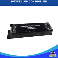 RGB DMX 512 DECODER LED Controller 3 canali DC12-24V, 4A