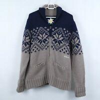 LUIS TRENKER Womens Italy Nordic Norwegian Wool Cardigan Jumper SIZE UK14,Medium