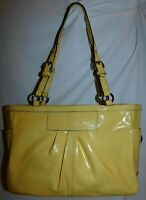 Coach East West Gallery Yellow Patent Leather Tote 13761