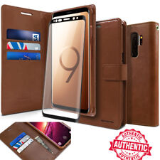 For Galaxy Note9 S10 S9 Case Flip Wallet leather W/Glass Screen Protector Cover