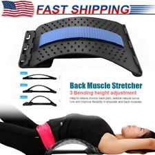 Back Magic Stretcher Lower Lumbar Pain Relief Spine Massager Support Posture USA