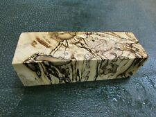 SPALTED HACKBERRY DELUXE KNIFE BLOCK/SCALES/ CALLS/ PEN BLANKS--H--A--2