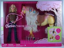 Barbie Doll with Tawny Horse Walks & Neighs Giftset NEW NRFB 2006 NIP