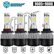 4PCS 9005 9006 LED Total 3000W Combo Headlight Kit Bulbs 6000K White Hi-Lo Beam