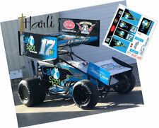 Cd_Sc_088 #17W Harli White Cat Spot Sprint Car 1:24 Scale Decals
