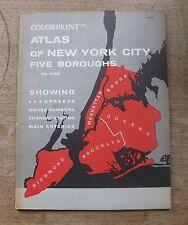 Colorprint ATALS OF NEW YORK CITY Five Boroughs #1445 - 1950's - maps Brooklyn