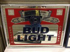 1992 Budweiser Anheuser Bush Bud Light Beer Bar Mirror 19x24.5 (h100)