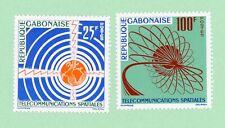 Gabon 2 stamps, SC 167 - 168,  Space Communications,  1963,  MPH