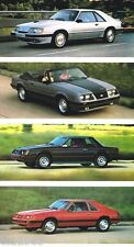 1984 Ford MUSTANG Brochure / Catalog with Color Chart: SVO,GT,TURBO,LX,L,