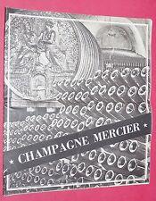 BROCHURE PUBLICITE CHAMPAGNE MERCIER 1955 EPERNAY ANGLAIS ET FRANCAIS HISTOIRE