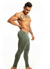 N2N Bodywear Men Moss Green Brushed vintage tights size  L