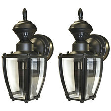 Secure Home 2 Pack 11 In Black Motion Activated Outdoor Wall Light