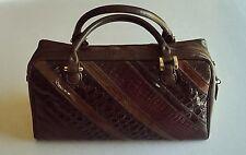 VARON Vintage 1980's Patchwork Exotic Skins East-West Medium Satchel Handbag EUC