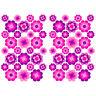 56 Stk. Blumen Aufkleber Pink Glanz Sticker Selbstklebend Retro 70er Flower R063