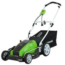 """Greenworks 21"""" 13 Amp Corded Lawn Mower W/Bagger, 25112 *Distressed Pkg* New"""
