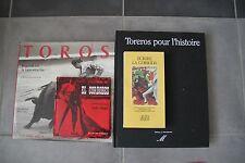 LOT TAUROMACHIE TORERO MATADOR TORO CORRIDA CLERGUE CORDOBES  CASANOVA DUPUY