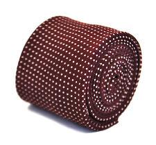 Frederick Thomas marron pointillé 100% LIN ET COTON Cravate hommes ft2167