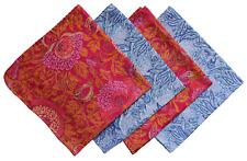 Anokhi handkerchiefs, set of 4, machine washable cotton.
