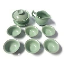 Glossy Porcelain Chinese Kungfu Tea Set (8 Pieces)