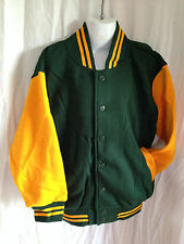 BNWT Boys/Girls Sz 8 L W Reid Dark Green/Gold Varsity Letterman Baseball Jacket