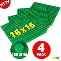 """LOT of 4 NEW GENUINE LEGO Green Color Building Base Plate 5""""x 5"""" 16x16 Stud Dots"""