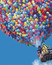 Oil Paint, Paint By Number- Hot Air Balloon 16x20'' Fun New Hobby Do-It-Yourself