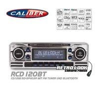Caliber RCD120BT Autoradio Bluetooth CD USB SD Retro Design Look Oldtimer Style