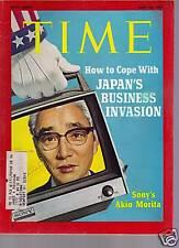 Time Magazine Sony's Akio Morita  May 10,  1971