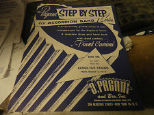 Pagani Step By Step Accordion Band Book 1 Good Condition Shop Waz 4 Music