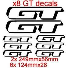 SET of 8 GT Vinyl Decals/stickers  (13 Colors to choose from)