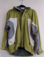 Helly Hansen Lime Green Grey Rain Jacket Hooded S Small retro